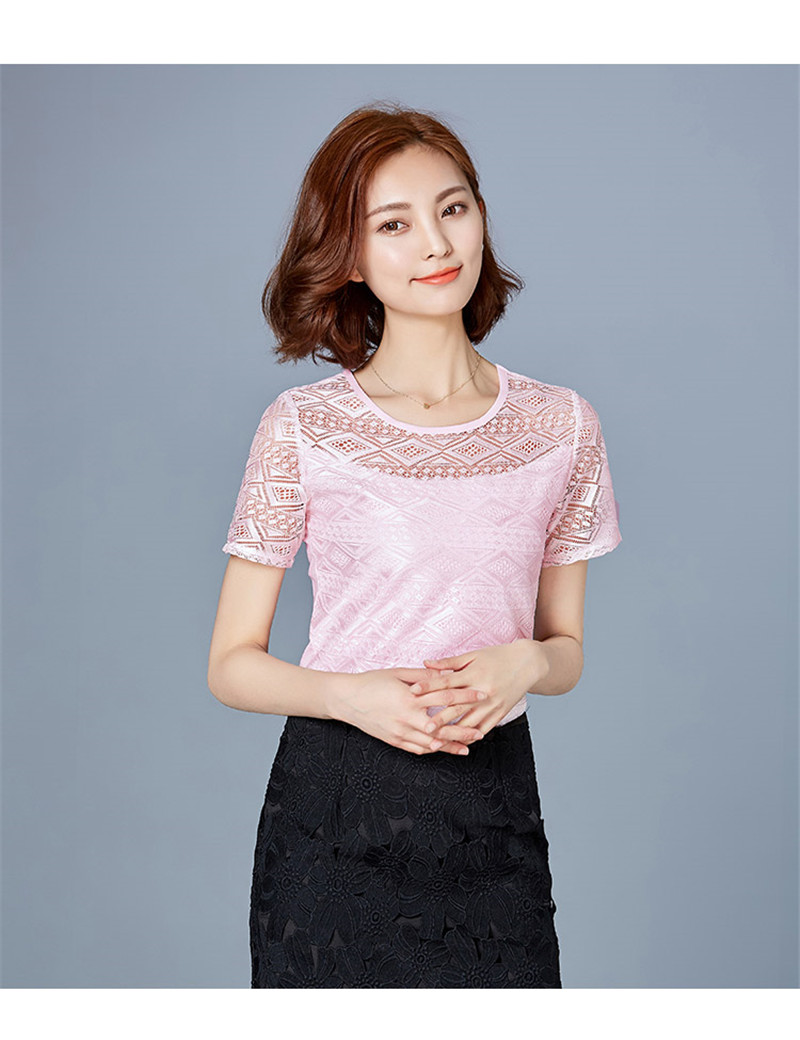 HTB1 pEHPpXXXXaCapXXq6xXFXXXO - New women tops lace chiffon blouse korean office female clothing