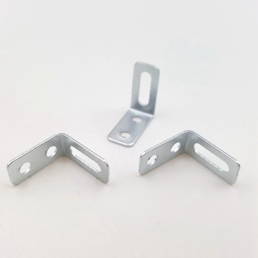 10PC/lot 10.5mm L-shaped Angle Iron Bracket Corner Brackets Corner Code Perforated Shaft Bracket