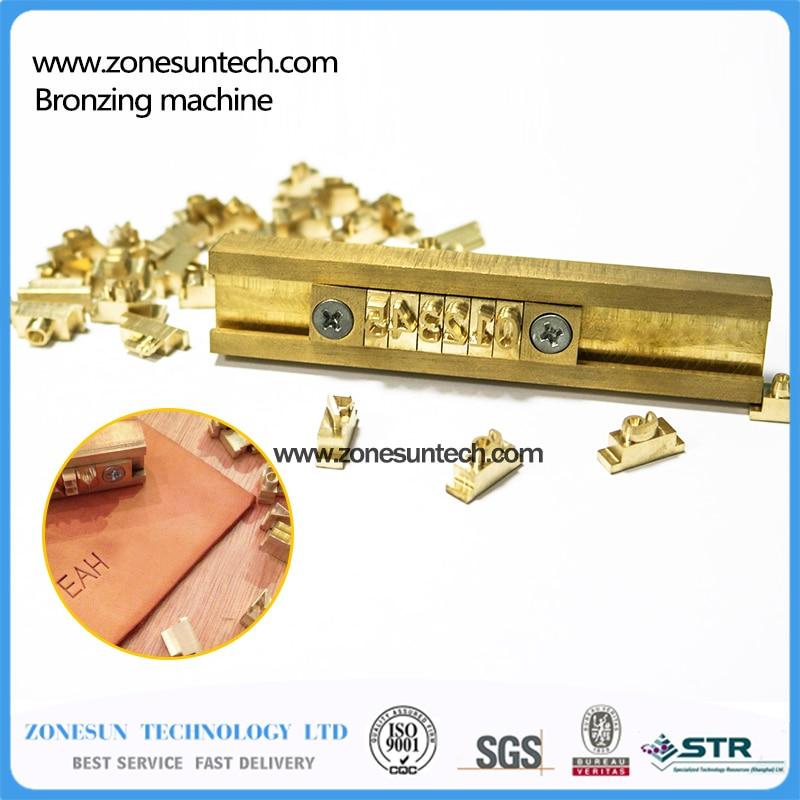 brass flexible letterscnc engraving mold hot foil stamping machinenumberalphabet