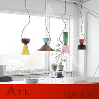 Colorful Simple Design Can Be Customized E27 Pendant Light Suspension Drop Lamp Modern Bulbs Bar Restaurant