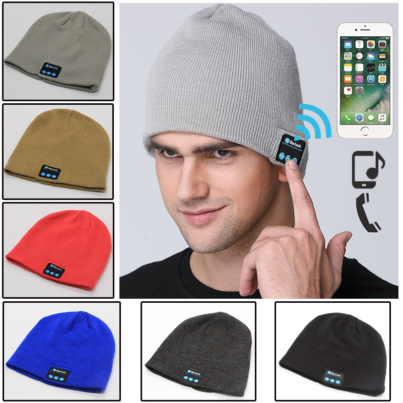 Wireless Headphones Bluetooth Music Hats Smart Caps Headset Earphones Warm Beanie Chapeau Winter Hat with Speaker for Sports vbiger women men skullies beanies winter hats cap warm knit beanie caps hats for women soft warm ski hat bonnet