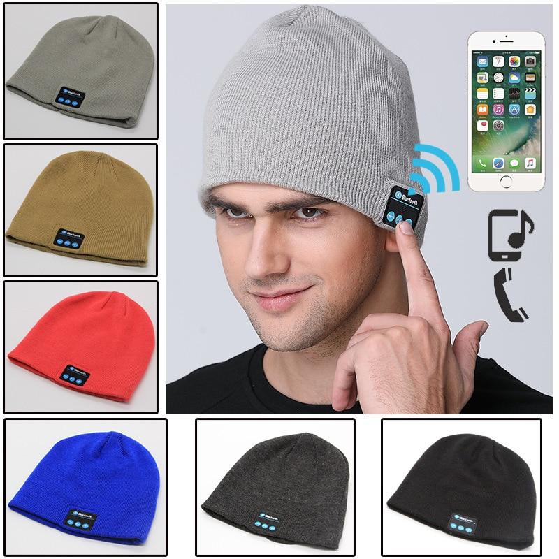Wireless Headphones Bluetooth Music Hats <font><b>Smart</b></font> Caps Headset Earphones Warm Beanie Chapeau Winter Hat with <font><b>Speaker</b></font> for Sports