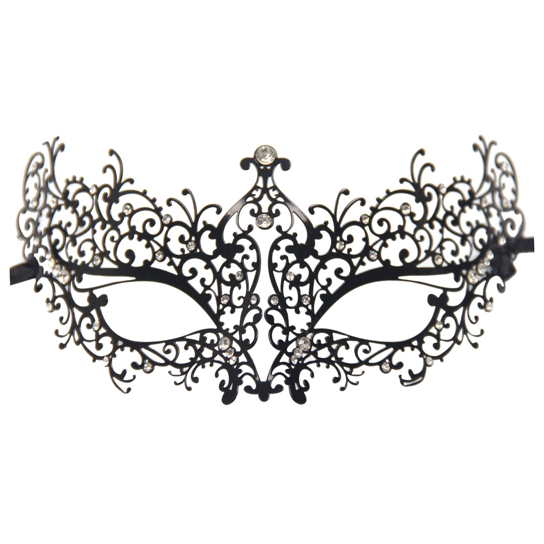 rhinestones metal luxury venetian laser cut masquerade filigree mask