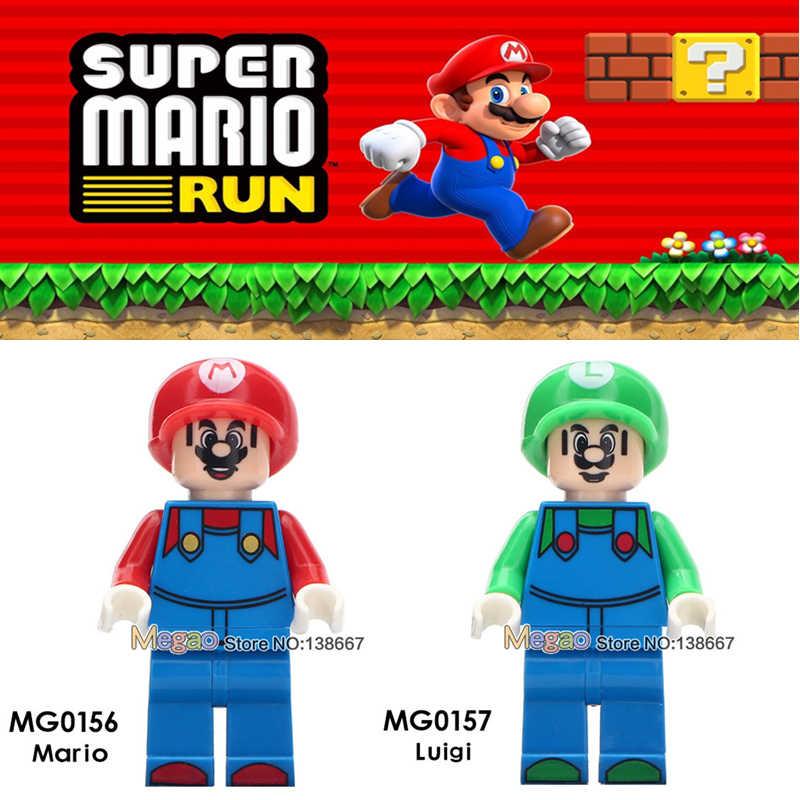 Singe Venda Ponto Gizmo Stay Puft Legoing Amigos Super Mario Bros Luigi Action Figure Building Block Brinquedos Para As Crianças