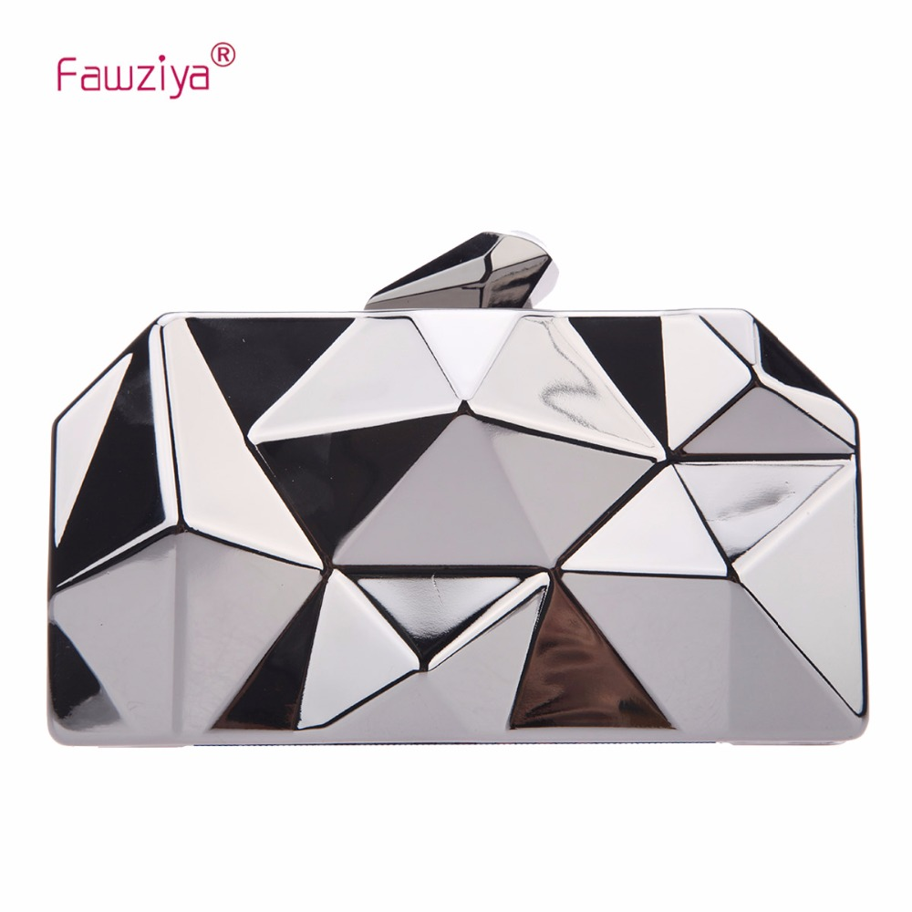 Fawziya Polygon Evening Bags And Clutches For Women Box Clutch Purse