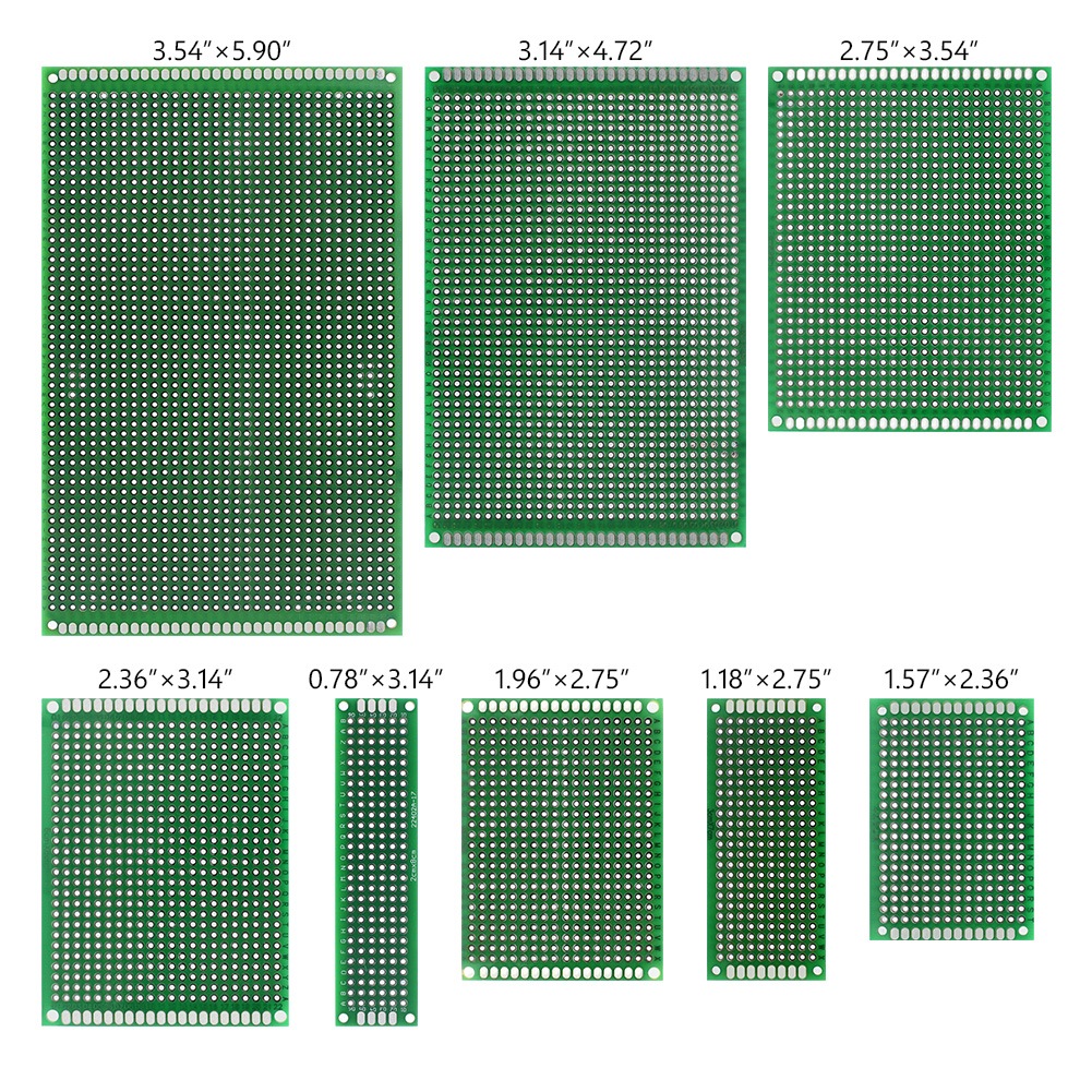 5pieces Universal Strip Breadboard For Arduino Electronic Soldering Projects 8 Sizes Tin Plated Prototyping PCB Circuit Board image