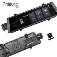 Phisung V6 Car Dvrs 10 Touch Android 5 0 GPS Navigators FHD 1080P Video Recorder Mirror