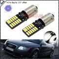 2 unids CAN-bus Sin Error 24-SMD 4014 H21W BAY9s 120 degress LED Parking Párpados Bombillas Para Posición Luces (Base: h21w, bay9s)