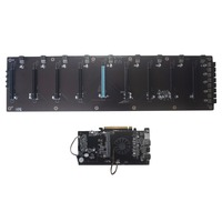 BTC HM65 Mining Board DDR3 Memory M.2 SSD SATA RJ45 Network Support HDMI HD Output Mainboard Support 8PCIE Graphics Card