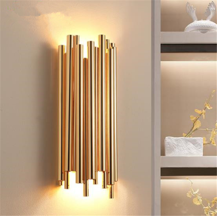 Criativo moderno individualidade metal luz de parede