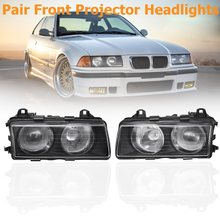 Pair Clear Front Euro Projector Headlights Headlamps For BMW 318i 318is 323i 323is 328i 328is M3 320i 325i 325is 1992-1999 1993