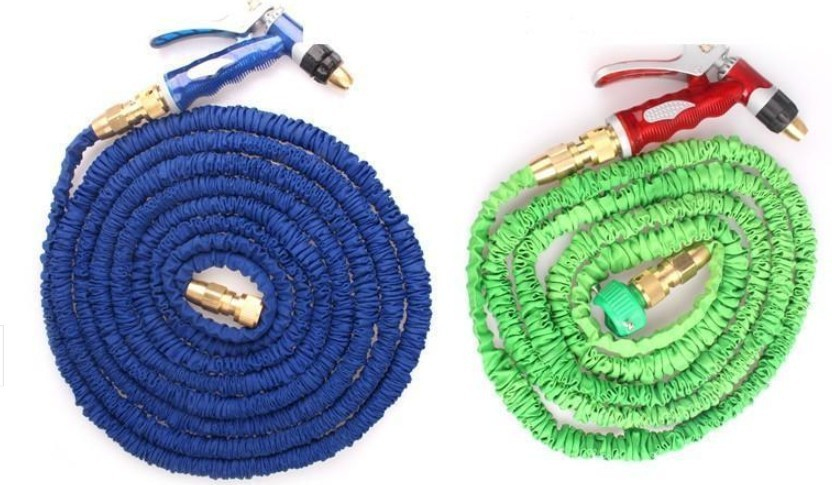 50ft Garden Hoses Watering Irrigation Car Wash Water Gun Water Hose With Copper Nozzle And Pvc