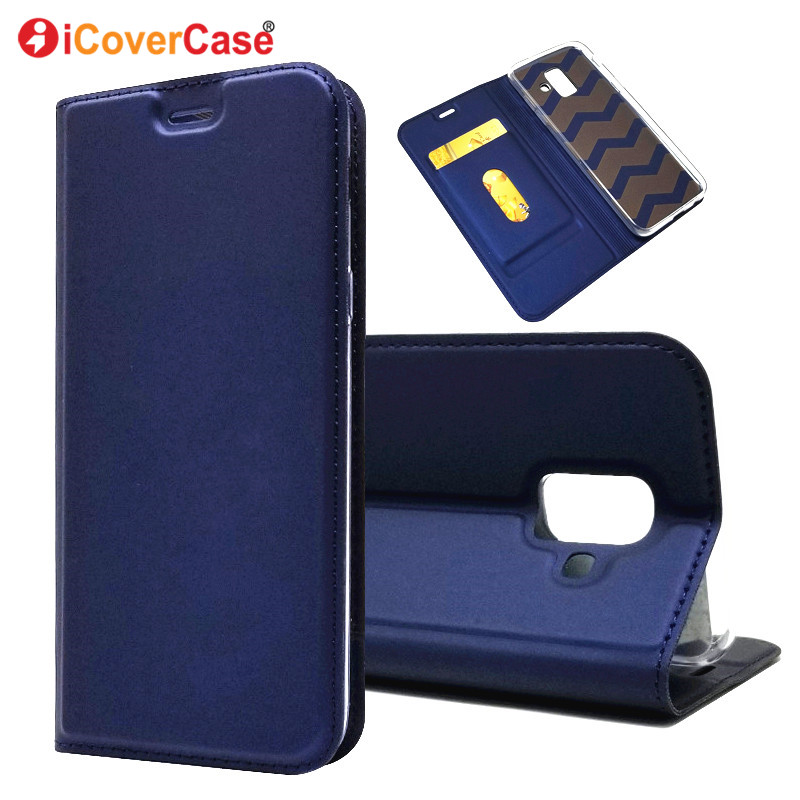 sale retailer f73a4 5c8bc Wallet Cases For Samsung Galaxy A6 A8 Plus A6+ A8+ 2018 Flip Case Cover  Leather Bag Book Stand Coque Etui Hoesje Para Funda Capa