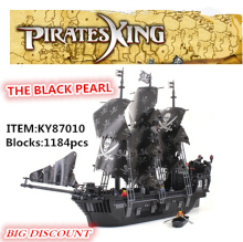 KAZI 1184PCS Black Pearl Ship KY87010 Building Block Pirates Of The Caribbean Ship Assembling Toys Compatible with Legoed