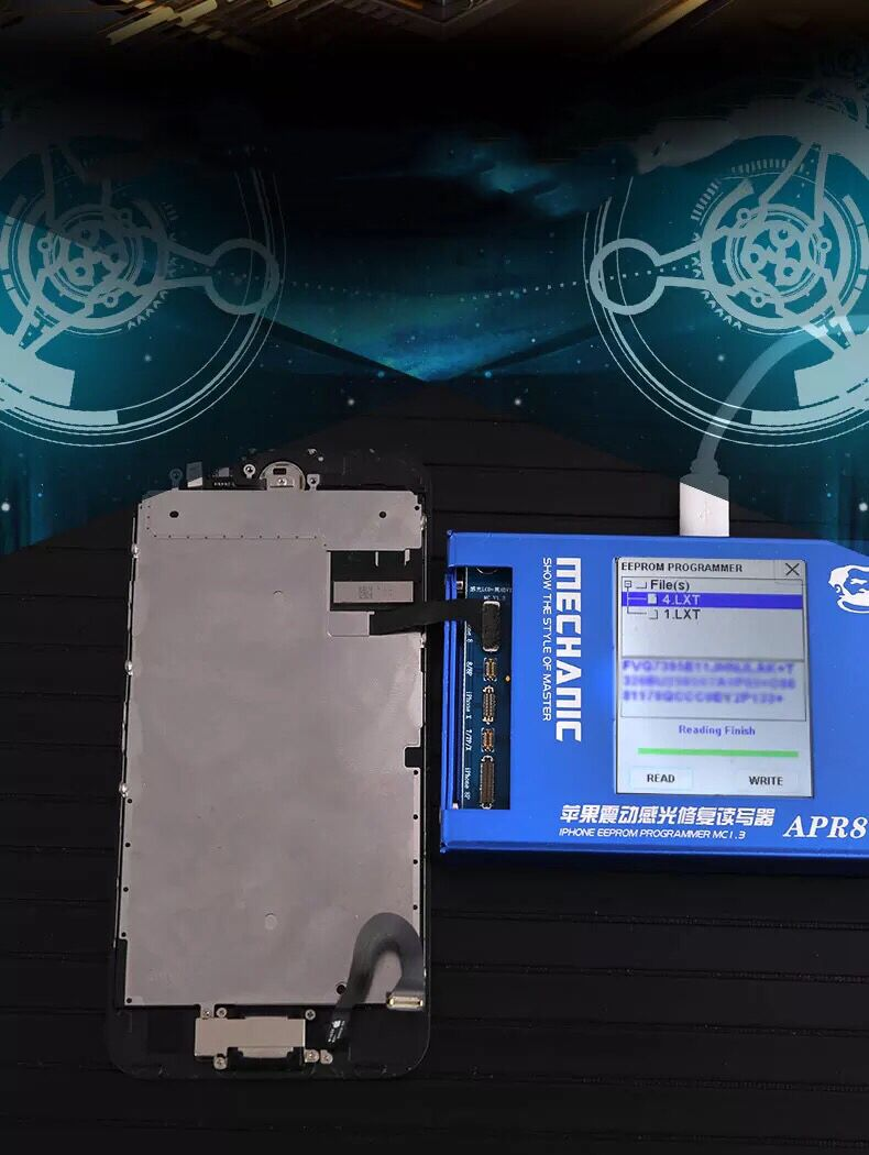 For MECHANIC LCD Photoreceptor repair programmer For Iphone 7G/7P/8G/8P/X APR8 Vibration code read-write modification EnglishFor MECHANIC LCD Photoreceptor repair programmer For Iphone 7G/7P/8G/8P/X APR8 Vibration code read-write modification English