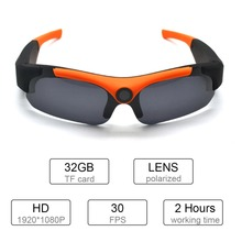 цена на Wide Angle Sunglasses Camera HD Mini Eyewear DV DVR Video Recorder Outdoor Sports Camcorder Support TF Card for Driving Glasses
