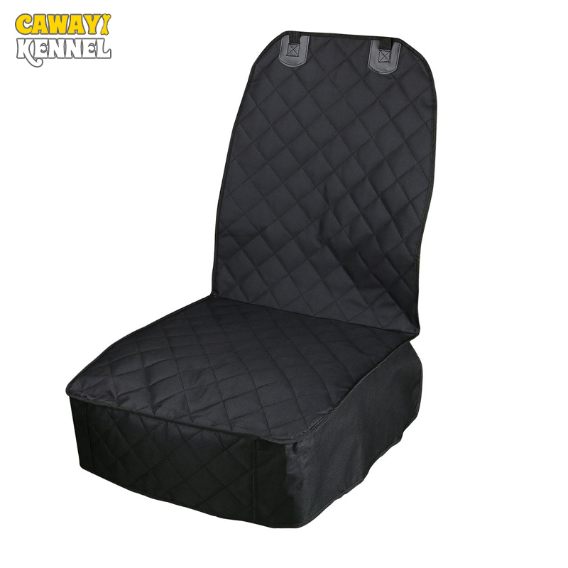 CAWAYI KENNEL 600D Oxford PP Cotton Pet Dog Cat Car Front Seat Anchors Waterproof Non-Slip Cover with safety belt U0958