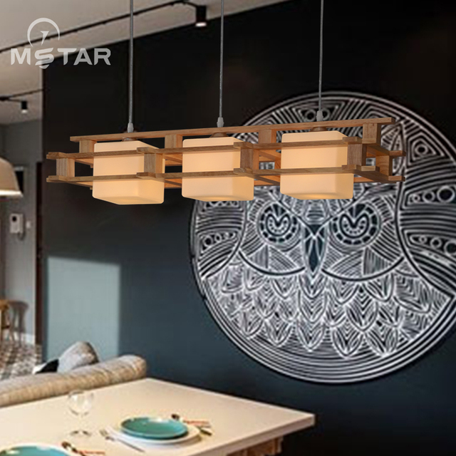 A1 Simple Japanese Chandelier New Chinese Creative Wooden