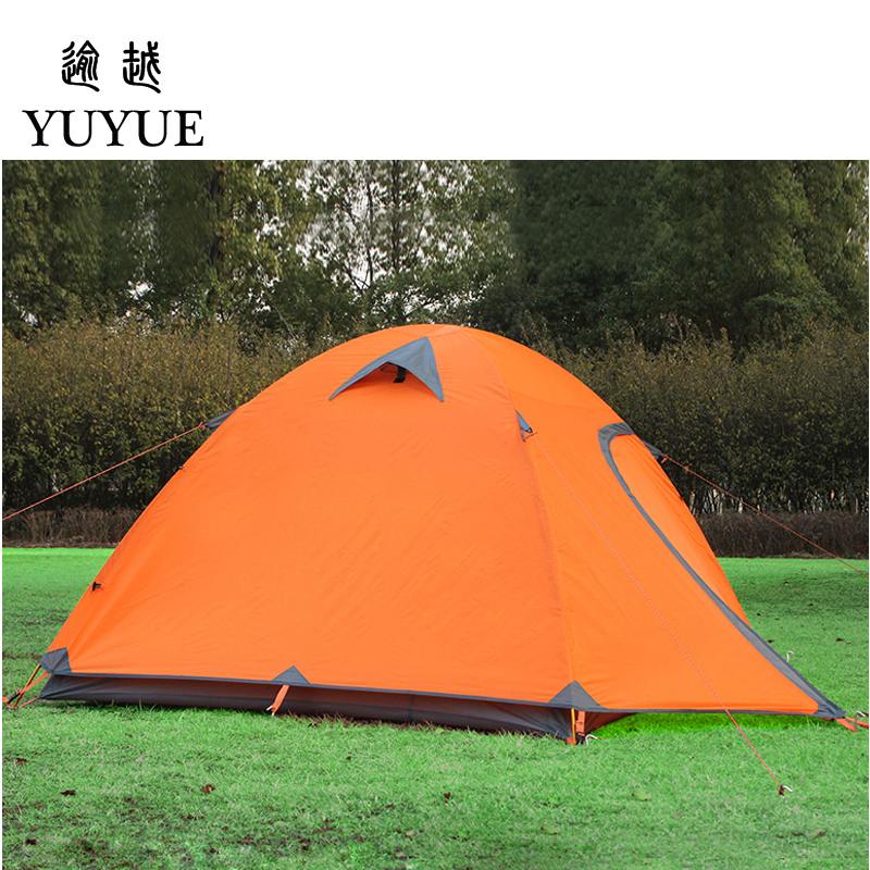 3-4 person waterproof tourist tent for hiking the tent camp Waterproof index 3000mm aluminium pole carpas de camping tente 1