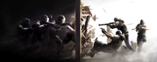 hot deal buy rainbow six siege posters video games wallpaper home accessories decorative painting silk printing process  50x116 cm
