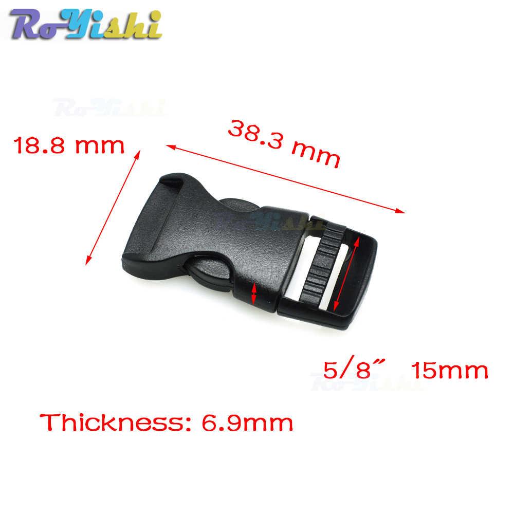 1 pcs Plastic Side Lançamento Fivelas Para Paracord Bracelet/Mochila Preta