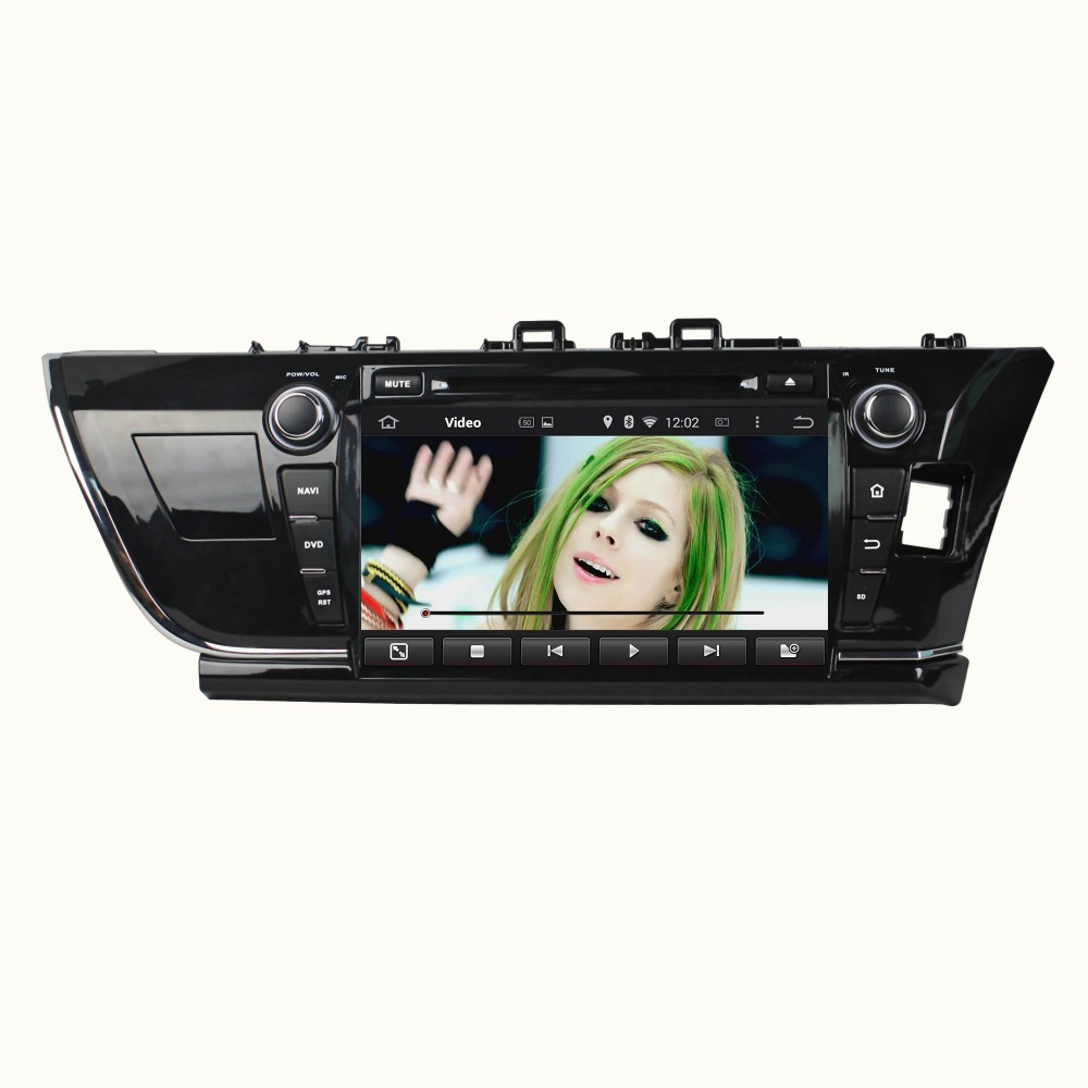 9 Inch Android 5.1.1 Quad Core HD1024*600 Car DVD Player For TOYOTA For COROLLA 2014 Free 8GB MAP Card Car Radio Stereo WIFI GPS