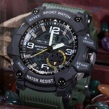 SANDA Marque S Choc Sport Montre Pour Hommes Numérique Double Affichage LED Montres électroniques Mode Étanche Militaire Montre Homme Horloge