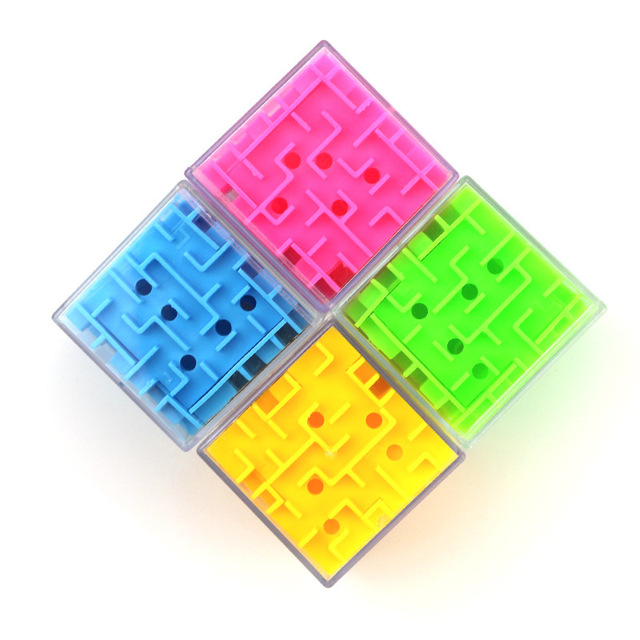 UainCube 3D Cube Puzzle Maze Toy Hand Game Case Box Fun Brain Game Challenge Fidget Toys Balance Educational Toys for children