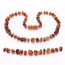 Янтарное ожерелье/браслет для ребенка простая упаковка лабораторные
