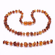 Baltic Amber Teething Necklace for Baby - Simple Package - Lab-Tested Authentic - 3 Sizes - 10 Colors amber teething necklace for baby multicolor 3 sizes natural stone diy beads necklace baby accessories lab tested