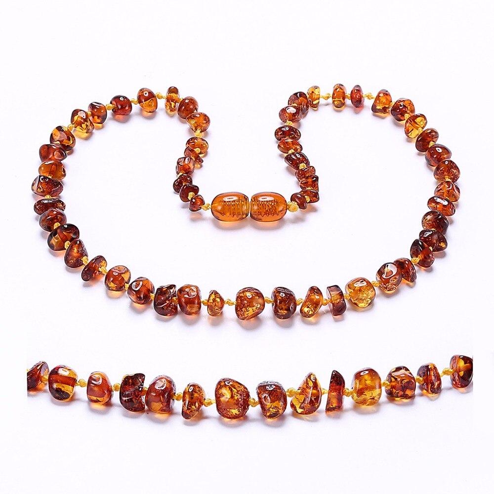 Bernstein Zahnen Halskette/Armband für Baby-Einfache Paket-Labor-Getestet Authentische-3 Größen-10 farben