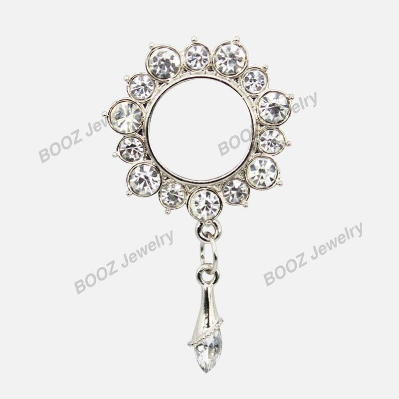 KUBOOZ 10 PCS Menjuntai Crystalar Ear Piercing Cincin Tandu Stainless - Perhiasan fashion - Foto 4
