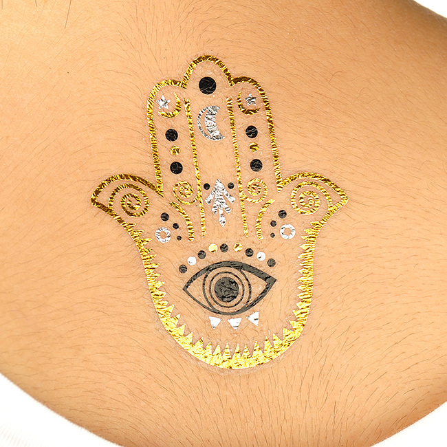 Gold metallic tattoo ink images for Permanent metallic ink tattoos