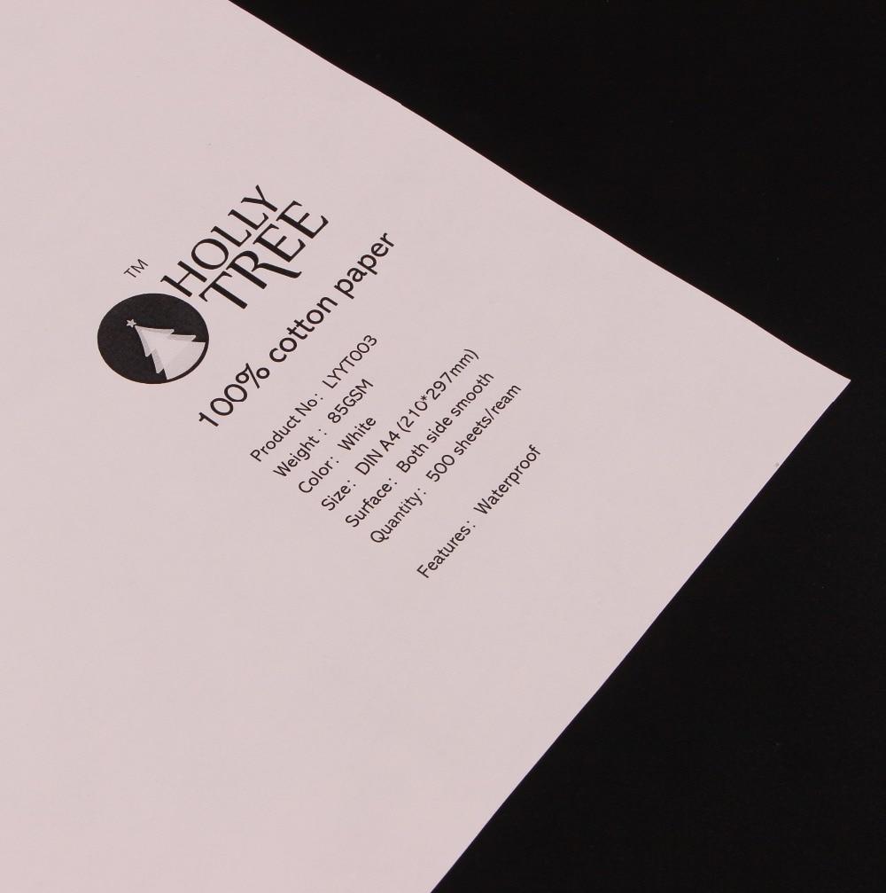 50 sheets/box  85gsm 100% cotton paper