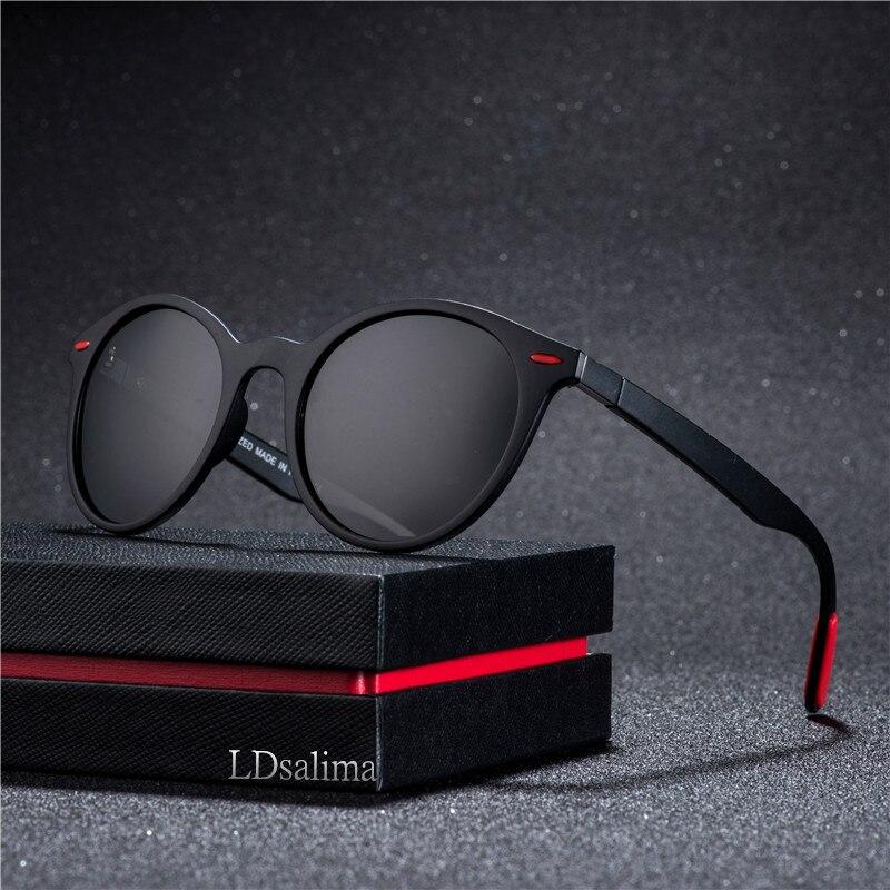 2019 Men Women Classic Retro Rivet Polarized Sunglasses TR90 Legs Lighter Design Oval Frame UV400 P4296