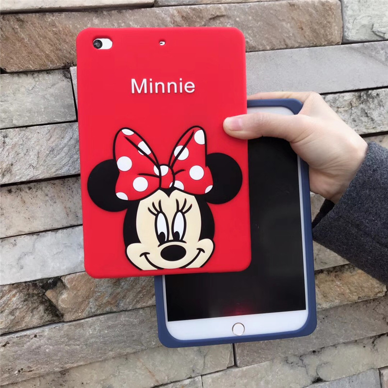 3D Cute Lovely Mickey Minnie Cartoon Donald Duck Soft TPU Cover For Ipad 2 3 4