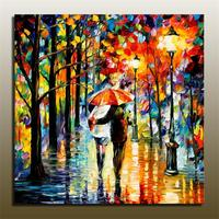 Handpainted Landscape Palette Knife Oil Painting On Canvas Beautiful Night Scene Wall Art Picture For Living