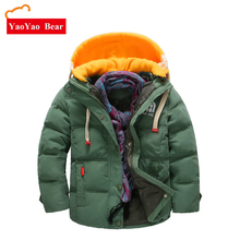 Children Down Parkas 3 10 11 12 Year Winter Kids Outerwear Boys Casual Warm Hooded Jacket Teengers Clothes Fashion Feather Coats