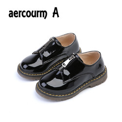 Aercourm a children shoes 2017 spring new patent leather boy shoes solid children flat leather shoes.jpg 250x250