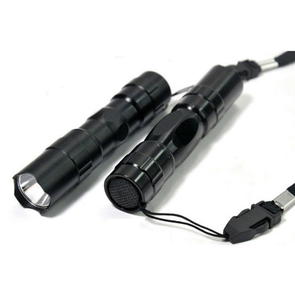 Waterproof LED Light Lamp Professional Camping Outdoor Flashlight Portable Torch Handy Mini CREE Black Keychain Newest 2019
