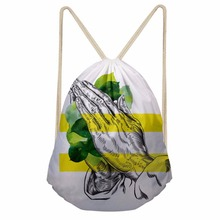 Noisydesigns Women Casual Drawstring Bag Sackpack personality Printed Backpack Travel Beach Bag Girls Ladies School Fresh Sac