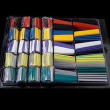 500 Pcs Polyolefin 2:1 Heat Shrink Tubing Wire Cable Wrap Tube Kit Wiring Accessories