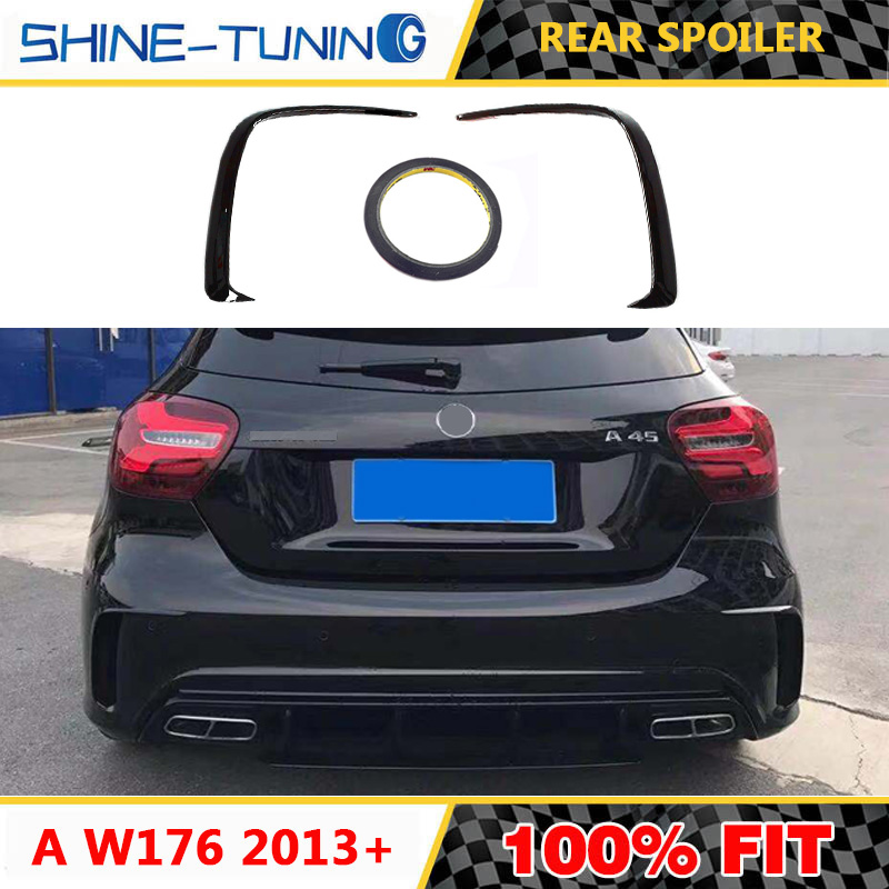 PP Painted Rear Bumper Splitter Spoiler for Mercedes W176 A45 AMG A250 2013-17