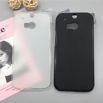 Funda de lujo Para HTC One (M8)/M8S Para teléfono de silicona suave Para HTC One 2 TPU Fundas protectoras de cubierta completa carcasa negra Original