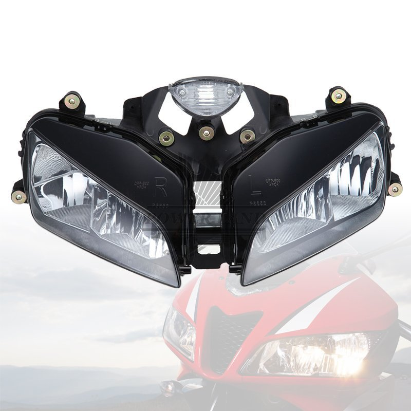 Free Shipping Brand New Black Motorcycle Front Headlight Head Lamp Assembly ABS Light Casing For Honda CBR 600 RR 2003-2006 duhan motorcycle bag black waterproof backpack moto bag motorcycle helmet backpack luggage moto tank motorcycle racing backpack