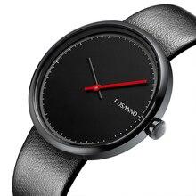 Hombres de la marca de Relojes de Diseño Simple Ultra Thin Moda Casual Reloj Deportivo Hombre Reloj de pulsera de Cuarzo relogio masculino