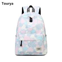 Tourya Casual Women Backpack Shoulder School Backpacks Bag Bookbag Cute Back Pack for Teenager Girls Schoolbag Travel Backbag