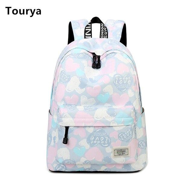 4e8fc9685fa5 Tourya Casual Women Backpack Shoulder School Backpacks Bag Bookbag Cute  Back Pack for Teenager Girls Schoolbag