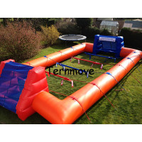 Inflatable Soap Football Field,Soccer Football Field,big outdoor inflatable game court for adult, inflatable event playground