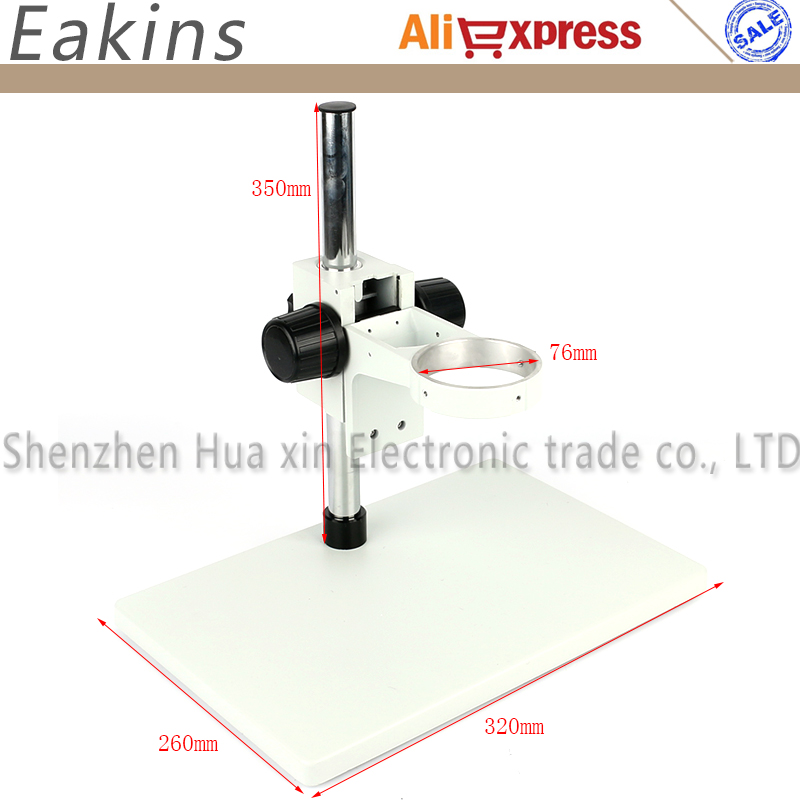 Big Size Heavy Duty Adjustable Boom Large Stereo Arm Table Stand 76mm Ring Holder For Lab Industrial Stereo Microscope Camera дырокол deli heavy duty e0130
